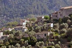 山特写镜头的村庄 库存照片