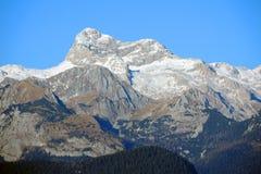 山特里格拉夫峰在斯洛文尼亚 免版税库存照片