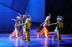 山犬舞蹈这舞蹈戏曲神鹰英雄的传奇 库存照片