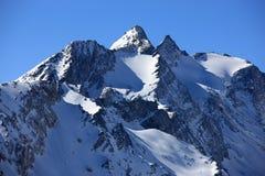 山瑞士冬天 免版税库存图片