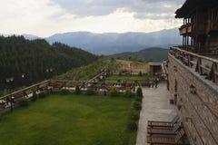 山的一个宾馆 库存照片