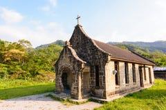 山的一个小的教会 免版税图库摄影