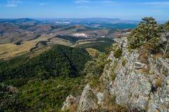 山的上面的看法告诉了鹰Peak  库存照片