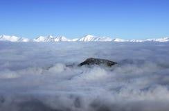 山的全景 免版税库存图片