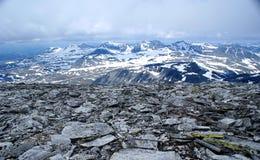 从山的全景storronden 免版税图库摄影