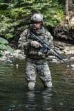 山的军队别动队员 库存照片
