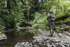山的军队别动队员 免版税库存照片