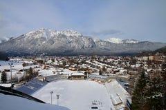 山的冰体育场 图库摄影