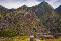 山的古老堡垒 库存照片