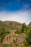 山的古老堡垒 免版税图库摄影