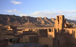 山的古色古香的摩洛哥人Kasbah 图库摄影