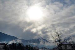 山的呼吸 库存图片