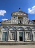 山的圣徒Minias是一间大教堂在佛罗伦萨在意大利 图库摄影