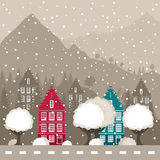 山的城市 免版税图库摄影