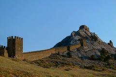 山的堡垒 免版税库存照片