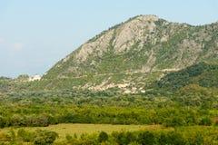黑山的大山 库存照片