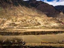 山的小西藏村庄在四川 免版税库存图片