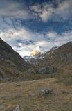 山的山顶 库存照片