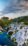 山的岩石河 免版税库存照片