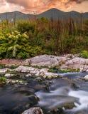山的岩石河 库存图片