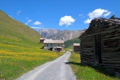 山的房子 库存图片