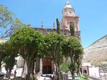山的教会 库存图片