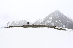 山的旅客 免版税库存图片