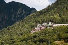 山的旅馆 图库摄影