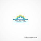 山的明亮的图片,象旅途 免版税图库摄影