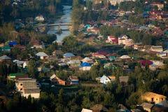 山的村庄 库存图片