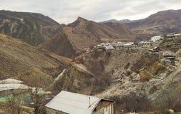 山的村庄 免版税库存图片