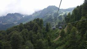 山的森林 到山的旅途 免版税库存图片
