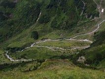山的河,南蒂罗尔,意大利,欧洲 库存图片