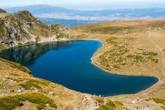 山的湖 库存图片