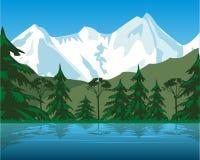 山的湖 皇族释放例证