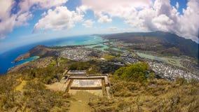 从山的热带海岸视图 库存图片