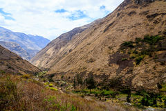 山的看法在厄瓜多尔 免版税库存图片
