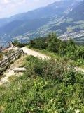从山的看法在奥地利 免版税库存图片