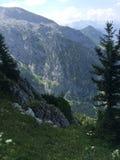 从山的看法在奥地利 免版税库存照片