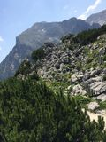 从山的看法在奥地利 库存照片