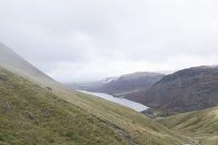 山的看法在湖区,英国 免版税库存照片