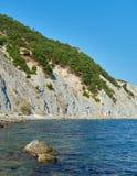 山的看法在黑海 免版税图库摄影