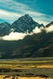 山的看法在Aoraki Mt厨师国家公园的 库存照片