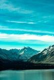 山的看法在Aoraki Mt厨师国家公园的 库存图片