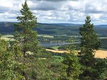 从山的看法 图库摄影