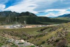 山的石工厂 免版税库存图片