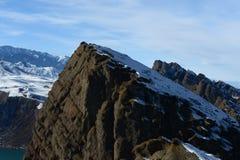 山的缺点 库存照片