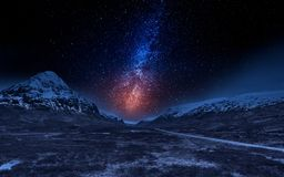 山的美丽的景色在苏格兰 免版税库存图片