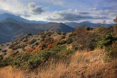 山的美丽的景色 库存照片