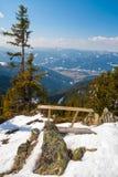 从山的美好的风景视图 库存照片
